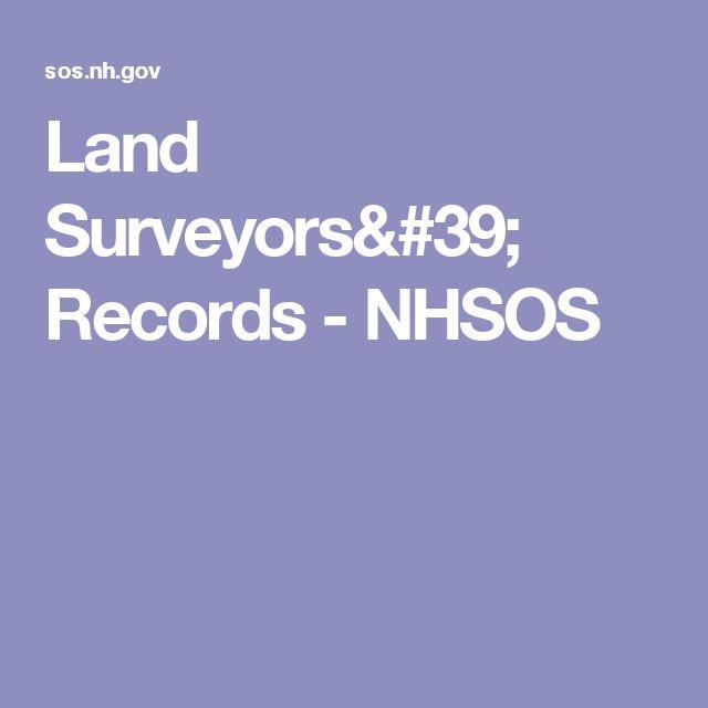 Land Surveyors' Records - NHSOS