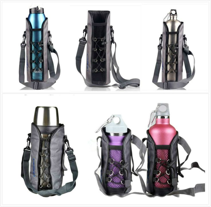 Case Travel Cover Bag Shoulder Strap Neoprene Pouch Water Bottle Outdoor #Unbranded