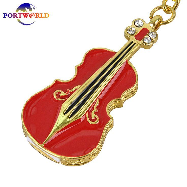 USB Flash Drive 32G Flash Memory 8G Flash Disk USB 2.0 Fashion Violin Stick Memory 16G Metal Pen Drive Perfect Memorial Red #Affiliate