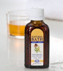 "Echinacea & Ginseng Bath Essence  • Contains Ginseng extract, ""the natural antibiotic"" • Provides a feeling of wellbeing when the body's    natural defenses are down. • Help fight mental and physical fatigue. • Improve concentration and stress relief."