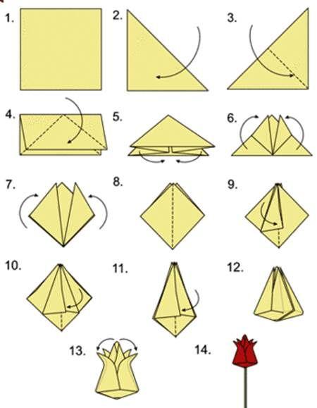 valentine card origami