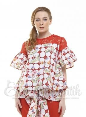 CA.11169 Red Aurelia Pekalongan Top catalog