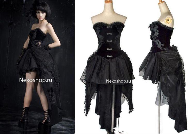 Готичное платье с корсетом