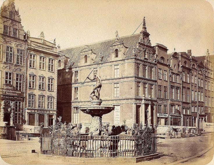 Danzig/Gdańsk - Neptuna fountain, 1865