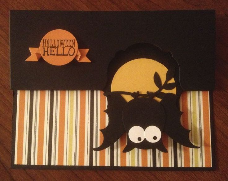 Thinlit Label Card Die, Owl Punch Halloween Bat Suestampfield.com