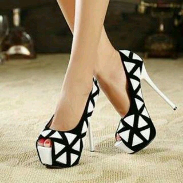 Black and white checkered high heels | Shoes | Shoes heels ...
