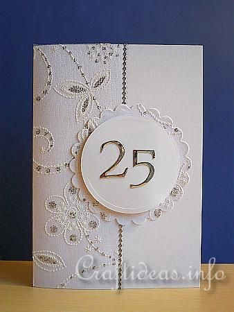 25th Anniversary Card Sbooking Pinterest Cards And Wedding