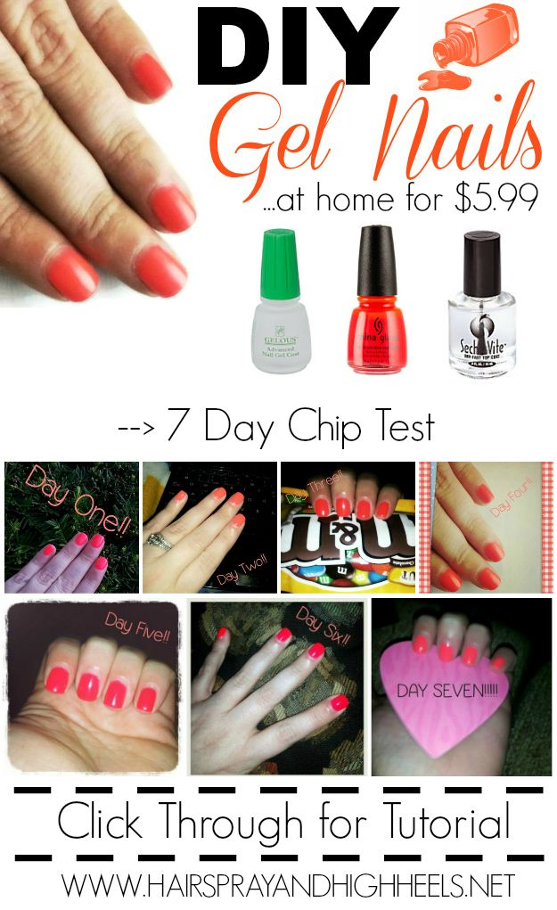 DIY Gel Nails...I actually bought this stuff and it works! This is the best tutorial on how to apply them the right way.