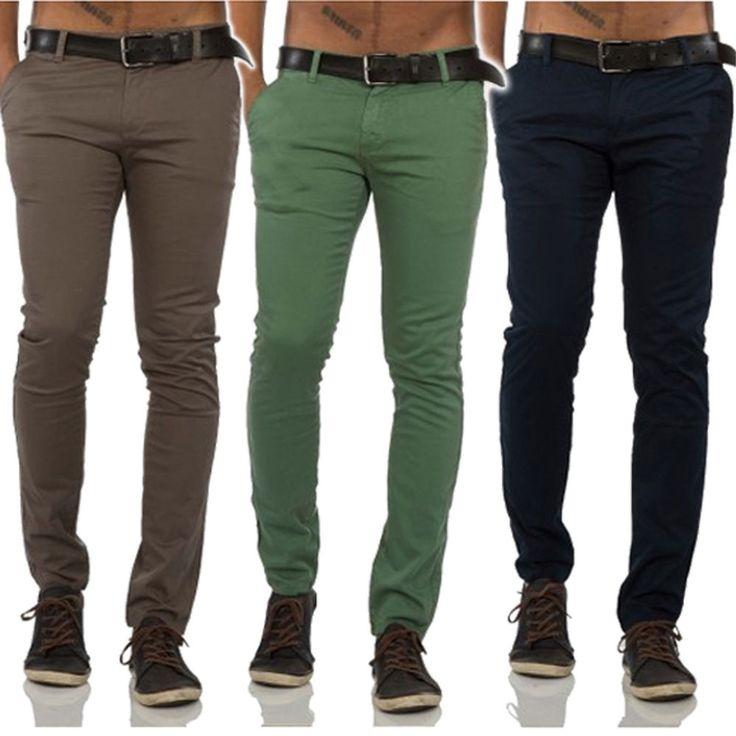 Rerock Herren Chino Hose Stoffhose No Jeans pant slim-fit 35-3331 | eBay