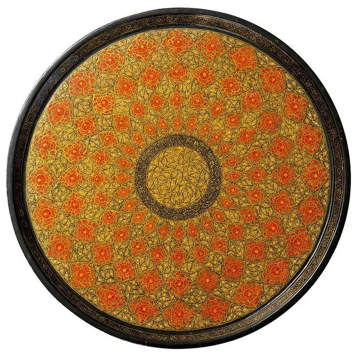 Kashmiri Indian Lacquered Papier Mâché Serving Tray | From a unique collection of antique and modern serving pieces at https://www.1stdibs.com/furniture/dining-entertaining/serving-pieces/