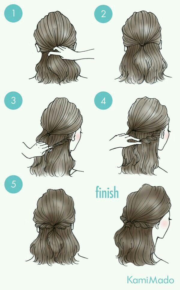 Frisuren für mittellanges / langes Haar ~ Pin via…
