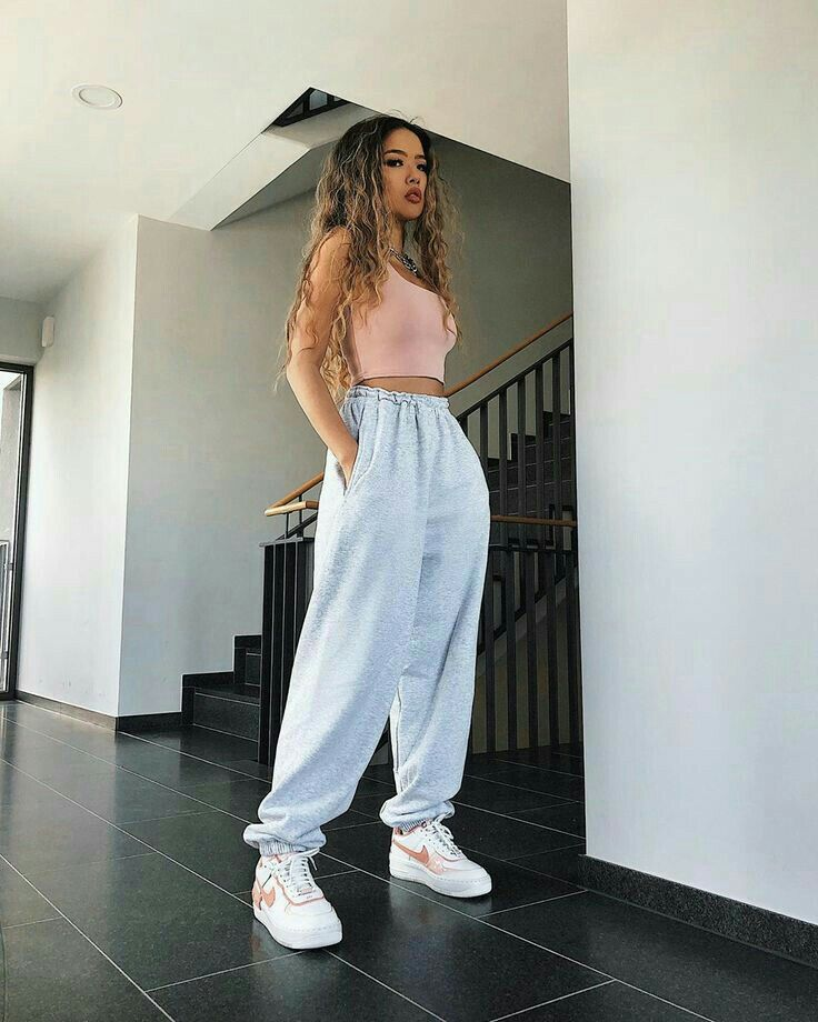 Cute Lazy Outfits, Basic Outfits, Teen Fashion Outfits, Retro Outfits, Look Fashion, Stylish Outfits, Sporty Outfits, Cute Pants Outfits, Hipster Girl Outfits
