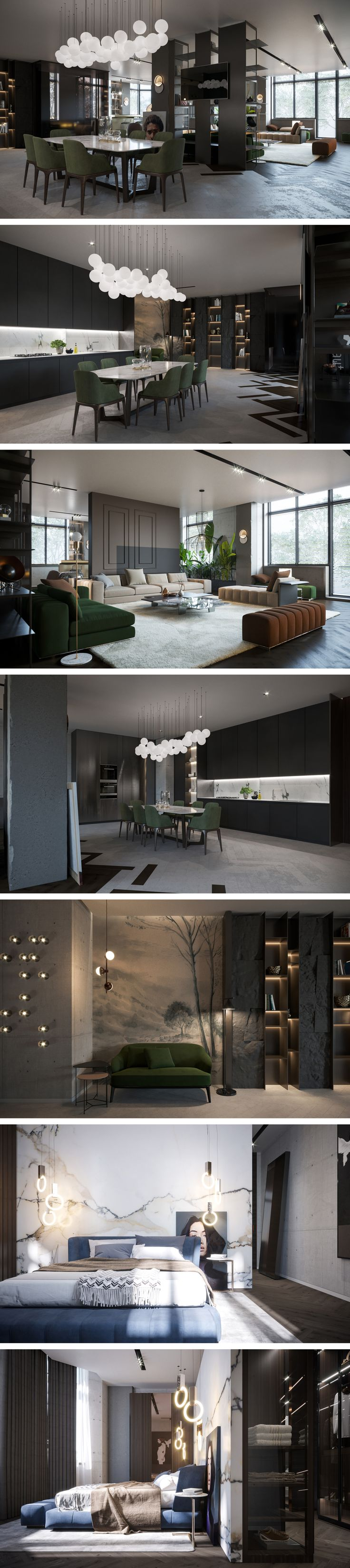 Современный интерьер в темных тонах - Галерея 3ddd.ru