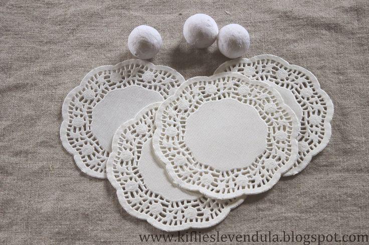 Kifli és levendula: Angyalkák mini tortapapírból