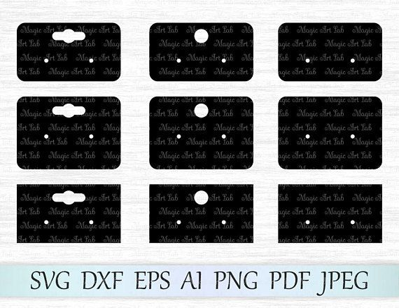 Earring Display Cards Svg Earring Cards Template Earring Display Svg Earring Cards Cricut Earring Card Display Cards Earring Cards Template Earring Display