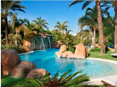 One of the stunning pools you can relax in at Melia Marbella Banus Hotel with Costa del Sol Yoga Holidays CostadelSolYoga.com