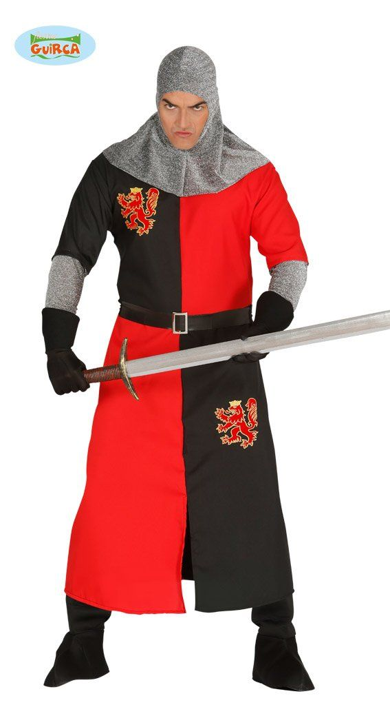 KING RICHARD THE LIONHEART MEDIEVAL KNIGHT ADULT MENS FANCY DRESS COSTUME
