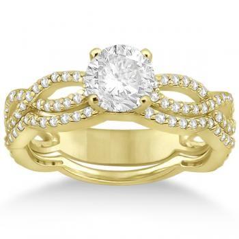 Gold Diamond Infinity Band