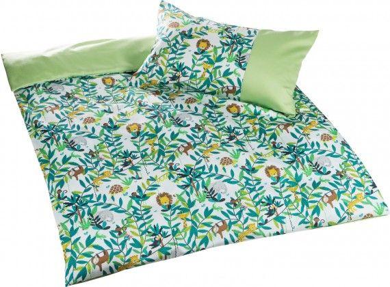 Bettwäsche Kinder Mako Satin.Mako Satin Kinder Bettwasche Dschungel Grun Von Bettwasche