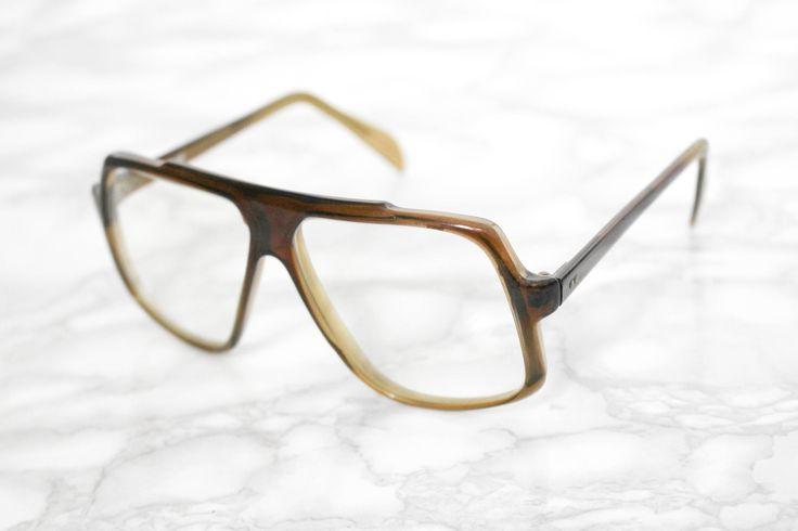 70s Mens Glasses Frames • Eye Spectacles • Oversized Eye Glasses • Vintage Nerd Glasses Frames • Unisex Eyewear • Hipster • Aviator Glasses by Venelle on Etsy