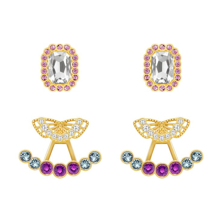 SWAROVSKI DAPHNE PIERCED EARRINGS JACKETS SETS