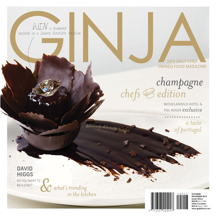 "October / November edition of GINJA  For a digital copy of GINJA go to ""Order Digital Subscriptions""   1 edition - R36 (2 months) http://www.ginjafood.com/product/bronze-subscription/  3 editions - R95 (6 months) http://www.ginjafood.com/product/silver-subscription/  6 editions - R135 (12 months) http://www.ginjafood.com/product/gold-subscription/  Print edition is available nationwide from 29 September 2014.  http://www.ginjafood.com/ginja-the-food-magazine/october-november-2014/"