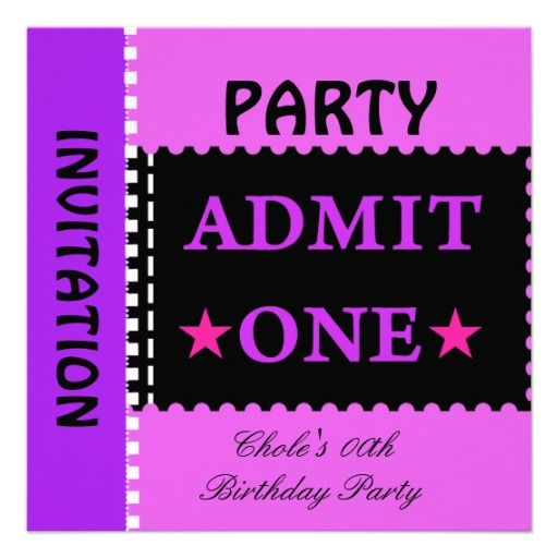 17 best images about 12th Birthday Party Invitations on ...