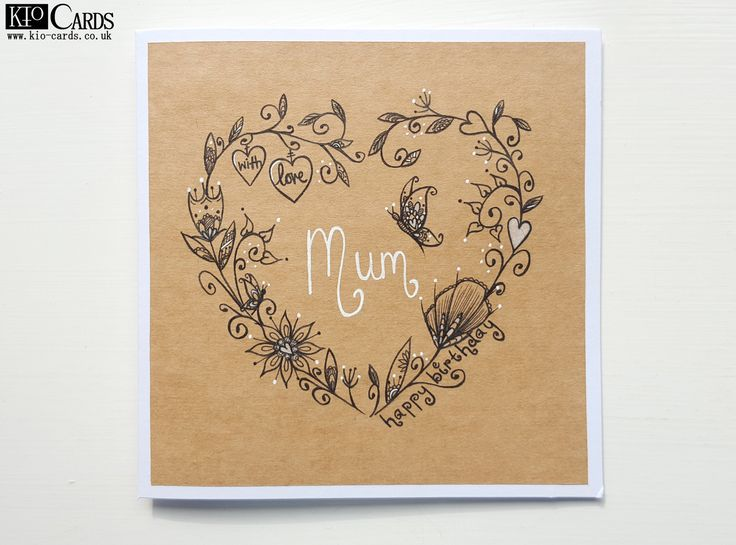 Best 25 mum birthday card ideas on pinterest diy birthday cards this beautiful butterfly card is sure to make your mums day extra special hand drawn lovely heart garland intertwined with hearts and flowers and with ccuart Image collections