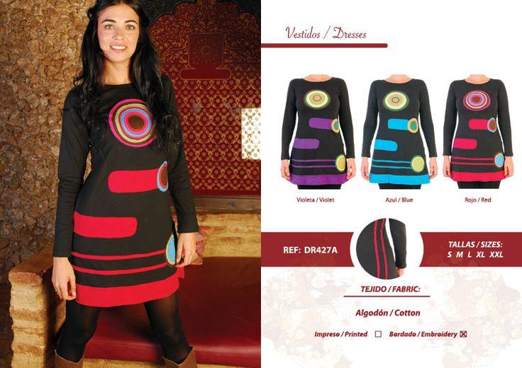 Vestido de algodón bordado