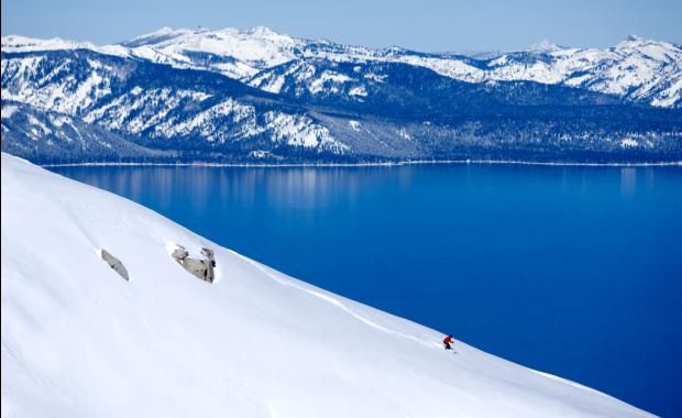 The amazing Heavenly Mountain Resort in Lake Tahoe! There are 7 ski resorts surrounding this beautiful lake. Tons and tons of snow, incredible views and friendly people- that's winter in Tahoe! Lots of great hiking here, too!