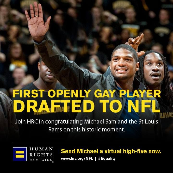 We congratulate Michael Sam and the St. Louis Rams on their terrific decision to draft him in the NFL. Today, #LGBT young people can look to Sam as proof that being open and proud of who you are doesn't keep you from achieving your dreams. Michael Sam, the St. Louis Rams and the NFL community are providing hope to millions of LGBT young people across the country and around the world.