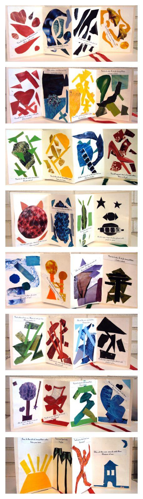 collage, colors, haikus
