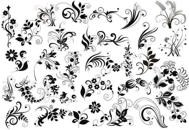 завитушки с цветочками - Поиск в Google