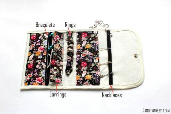 Floral Portable Jewellery Holder! Great For Travelling