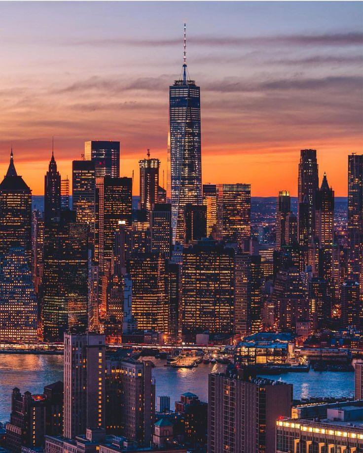 Manhattan Skyline by @misslexy76 | Manhattan skyline, New ...