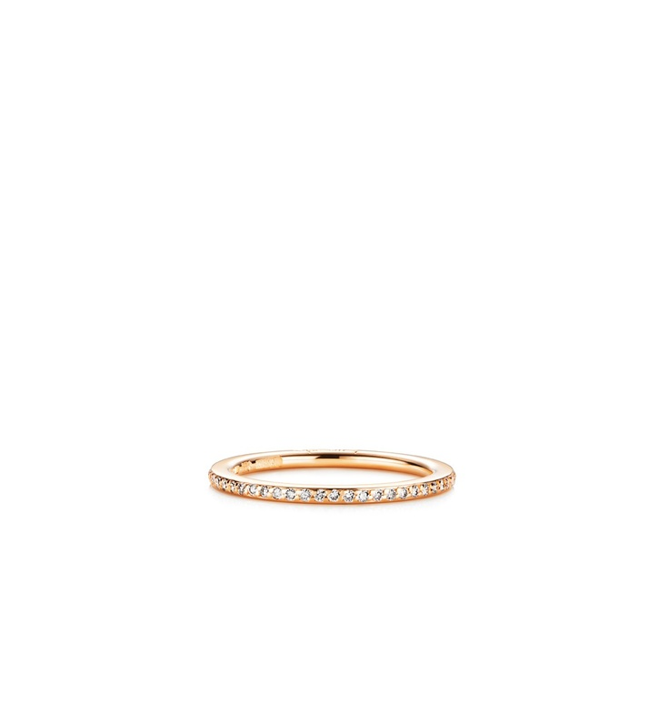 Efva Attling - Love Beads Superstars  $2,985 - Alliance ring in white or red gold, with diamonds around the shank.