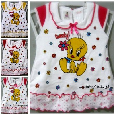 Baby Dress 'Tweety' for baby girl 0-6 month