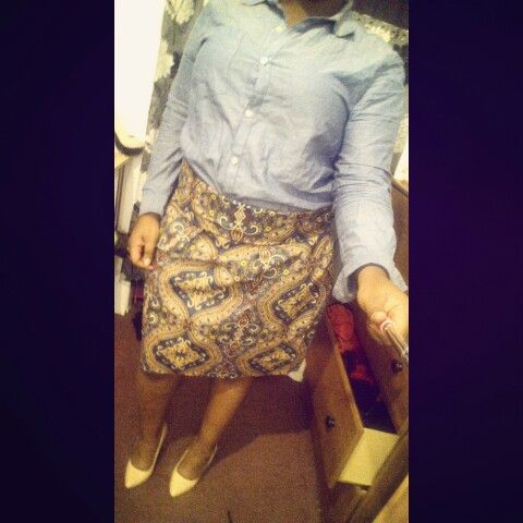 The first skirt i ever made lol