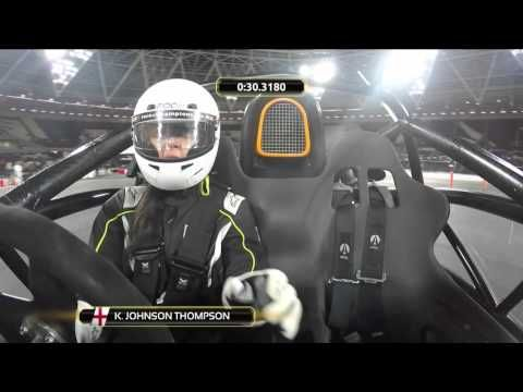 ROC 2015 Celebrity Skills Challenge - Katarina Johnson Thompson | Katarina Johnson Thompson in the ROC 2015 Celebrity Skills Challenge presented by TAG Heuer.