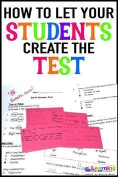 FREE blog entry Help your students learn test-taking skills by having them create the next unit test!