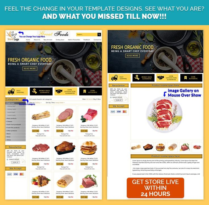 15 best FoodDrink Theme eBay Store Templates images on Pinterest