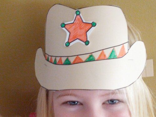 Cowboy Wild West Theme Unit Ideas  Cowboy Hat Craft Pattern