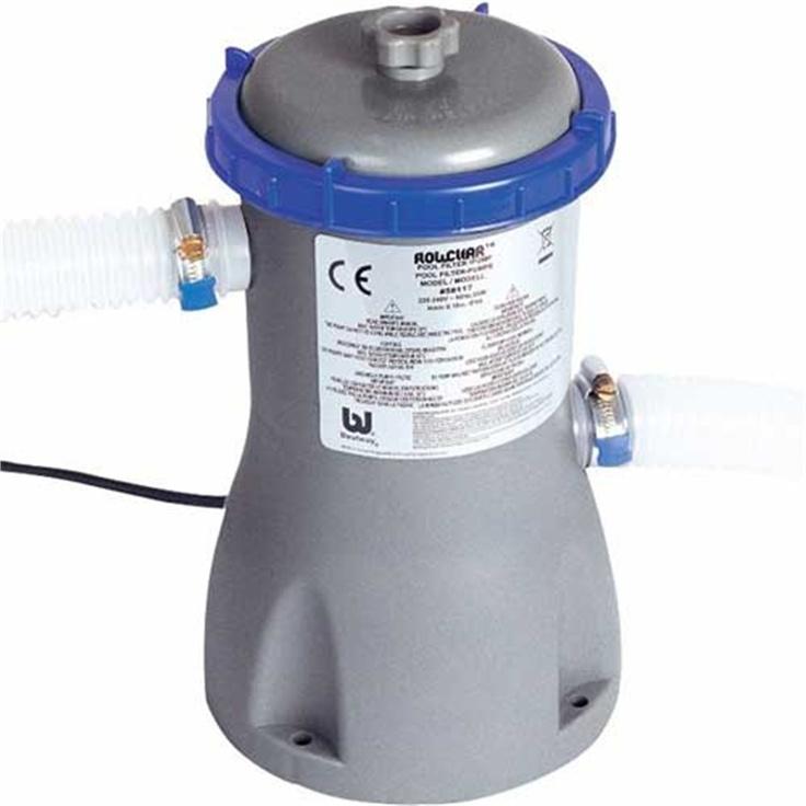 Bestway filter pump 800 gal garden paddling for Paddling pool heater