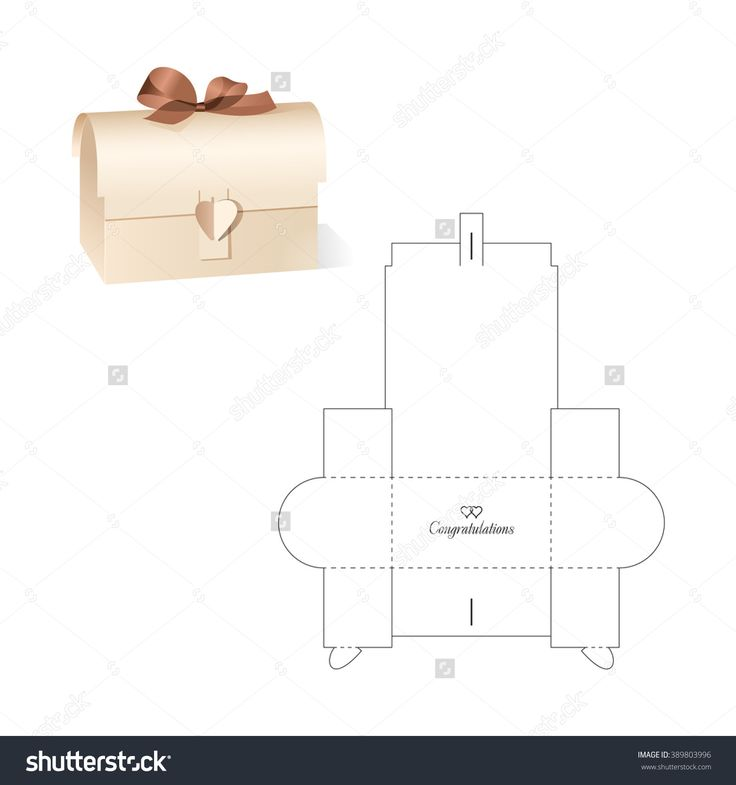 Retail Box With Blueprint Template Stock Vector Illustration 389803996 : Shutterstock