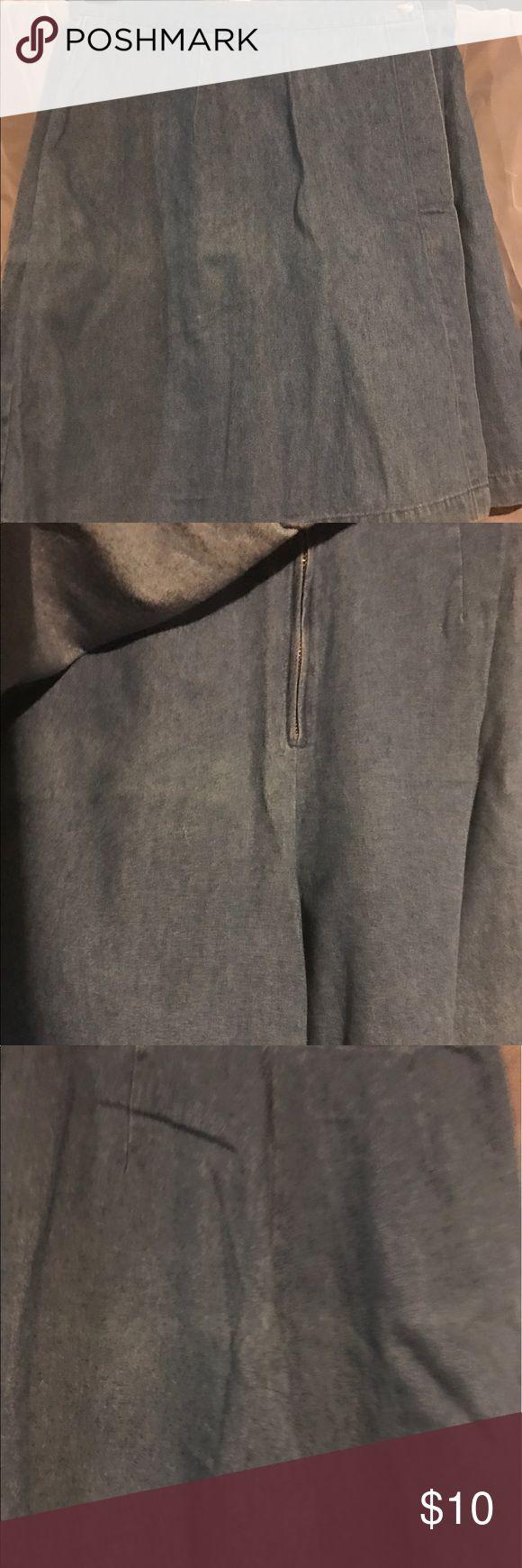 Denim 90's retro Skort🦄 Medium denim Skort(skirt and short combine), 😍 Bridge Water Basics Shorts