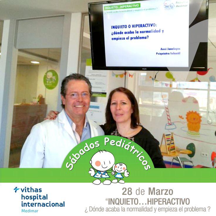 """Otro #SábadoPediátrico de éxito Emoticono smile Esta vez, el tema a tratar fue """"INQUIETO...HIPERACTIVO"""" y contamos con la colaboración de la Dra. Auxi Javaloyes y el Dr. Antonio Redondo."""