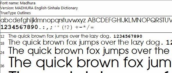 Madura Sinhala Fonts - ❸ Direct Download Sinhala Fonts and Sinhala Unicode Converter Software