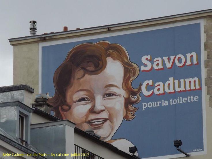 bébé Cadum sur un mur de Paris
