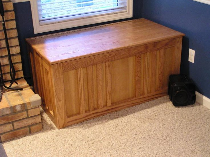 Indoor Firewood Storage Box Plans - Downloadable Free Plans