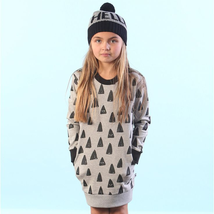 Minti Happy Triangles Crew Dress